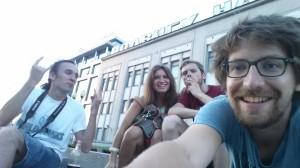 Micha, Lena, Brecht, me